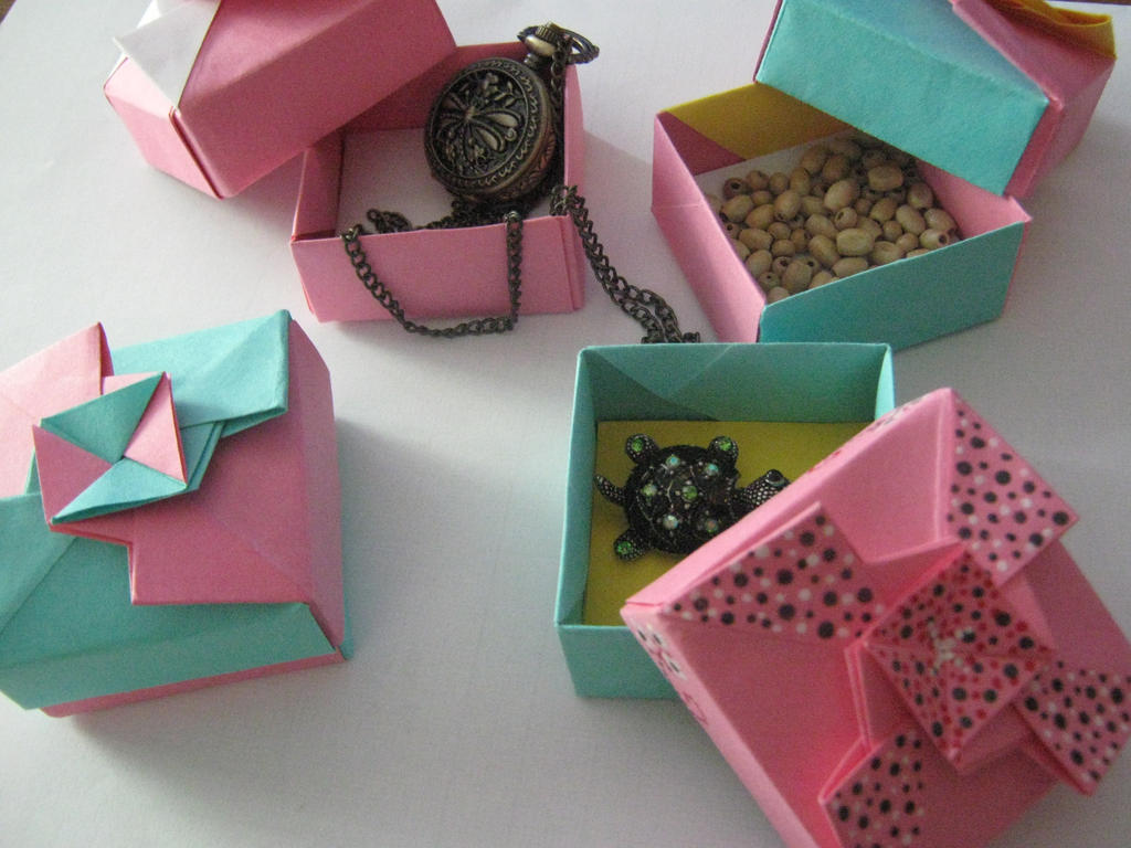 Origami gift boxes by darkumah d523f2b