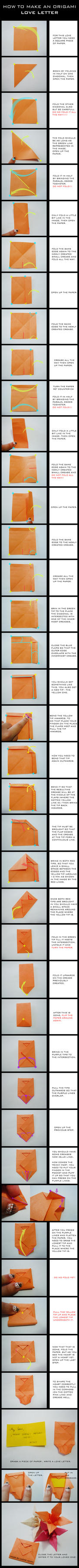 TUTORIAL: Origami Love Letter by DarkUmah