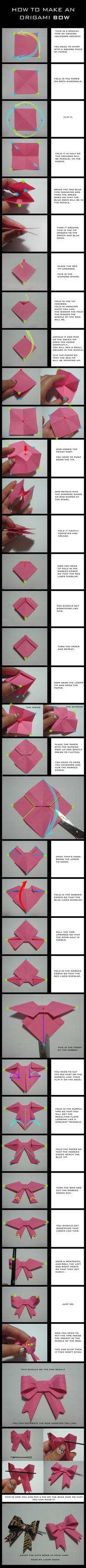 TUTORIAL: Origami Bow by DarkUmah