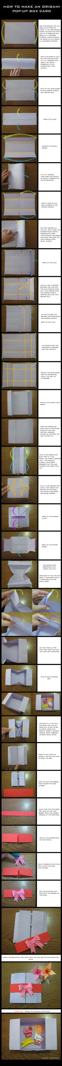 TUTORIAL: Origami Pop-up Box Card by DarkUmah