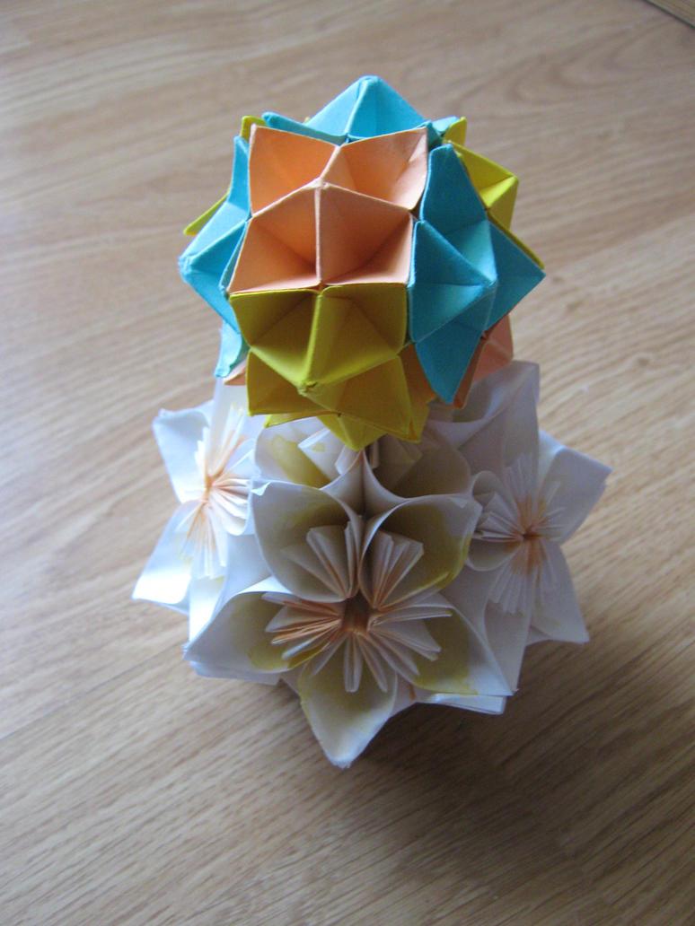 Kusudama and Spike ball by DarkUmah