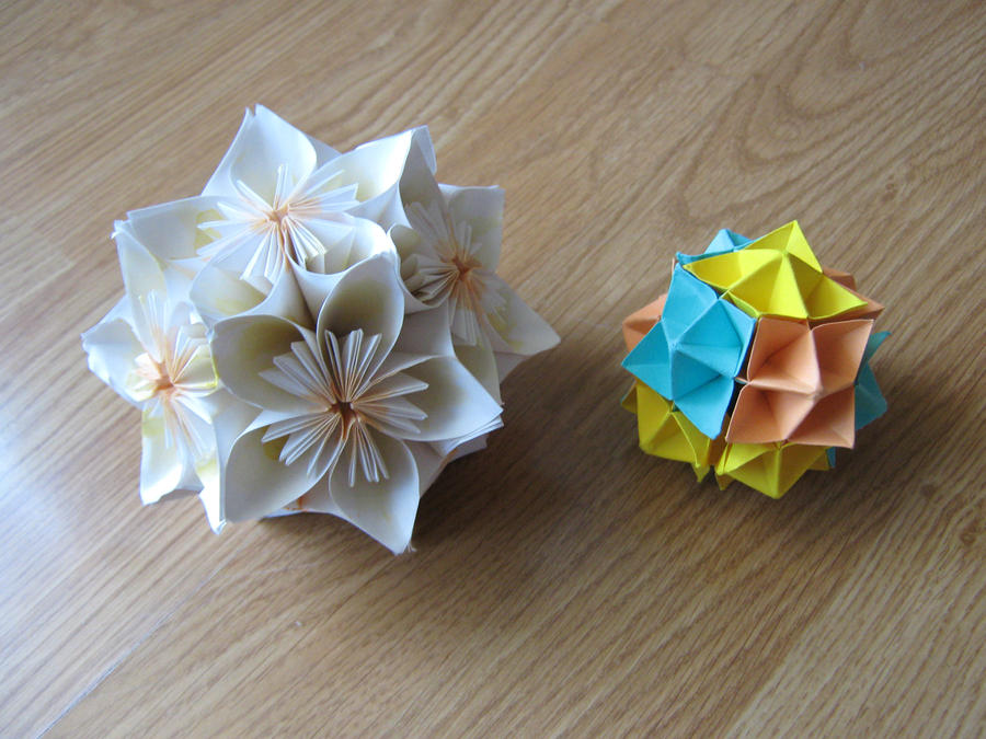 Kusudama and Spike ball by DarkUmah
