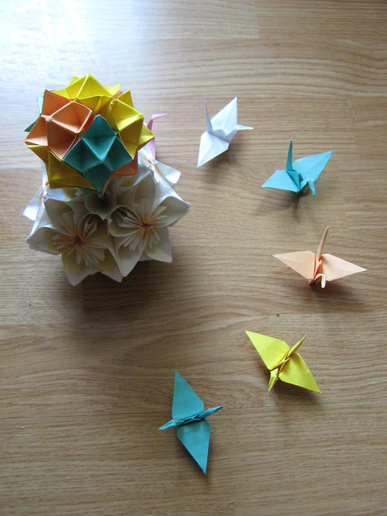 The Paper Crane Base by DarkUmah