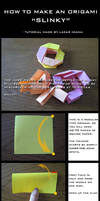 Tutorial: How to make an Origami Slinky