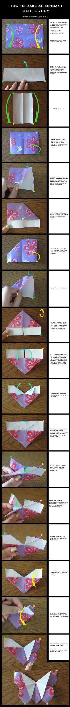 Tutorial: Origami Butterfly by DarkUmah