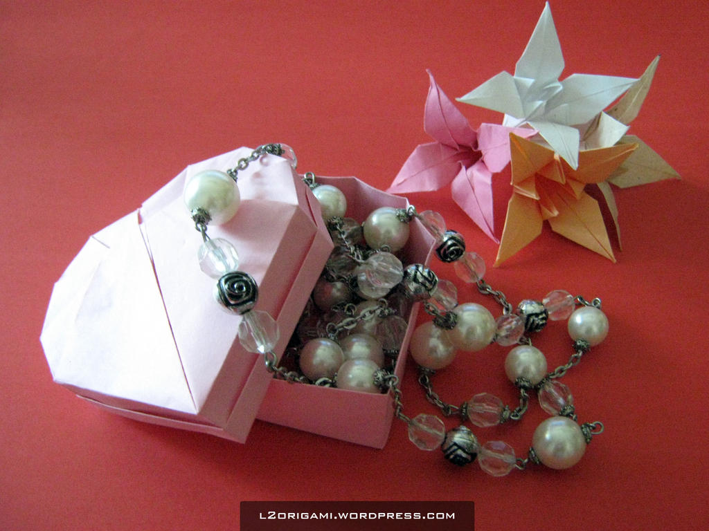Origami Heart Box by DarkUmah on DeviantArt - photo#25