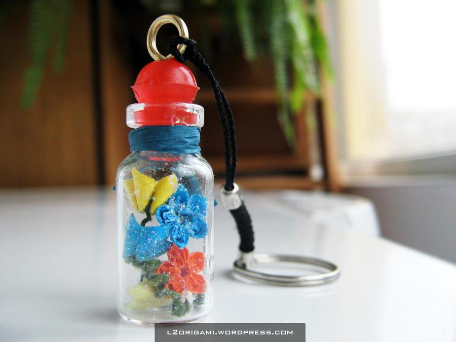 Mini origami project - Bottlet Flowers by DarkUmah