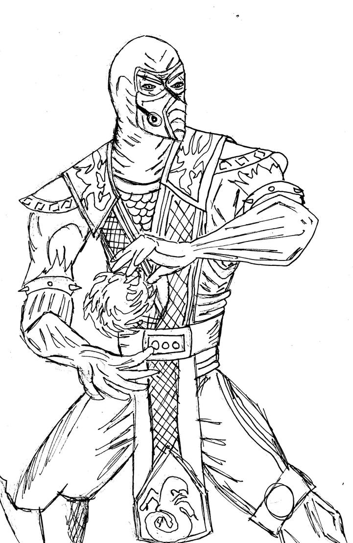 sub zero line drawing by angelicnotions on DeviantArt