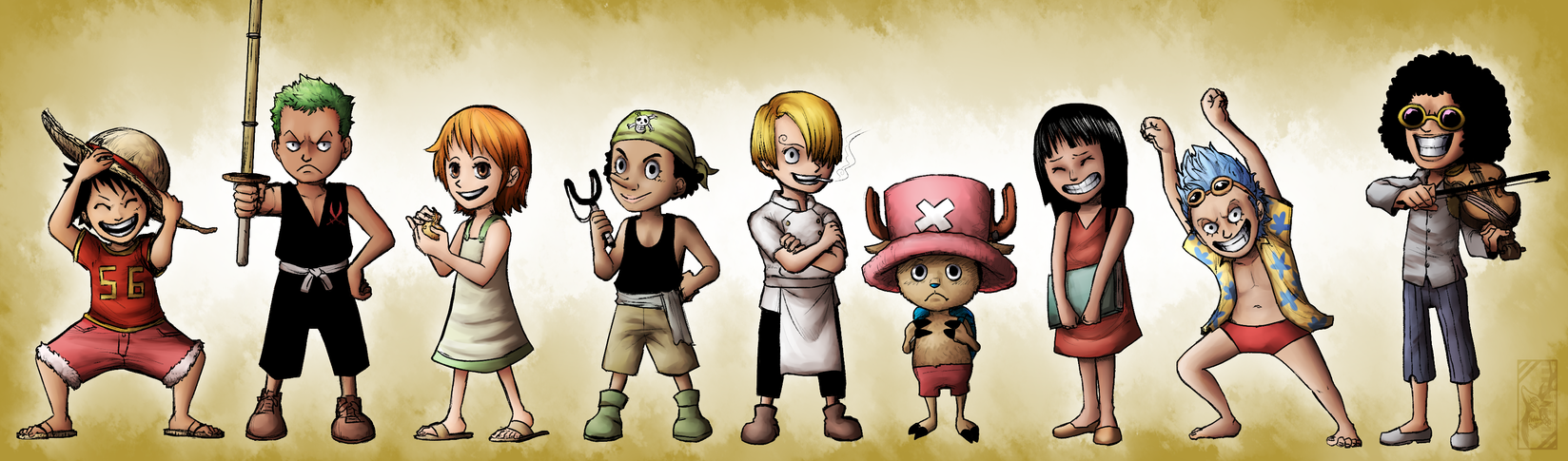 Young Straw Hats by Deer-Head