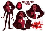 Red/Black Opal