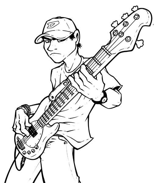 Blind Bassplayer By Bumblebee