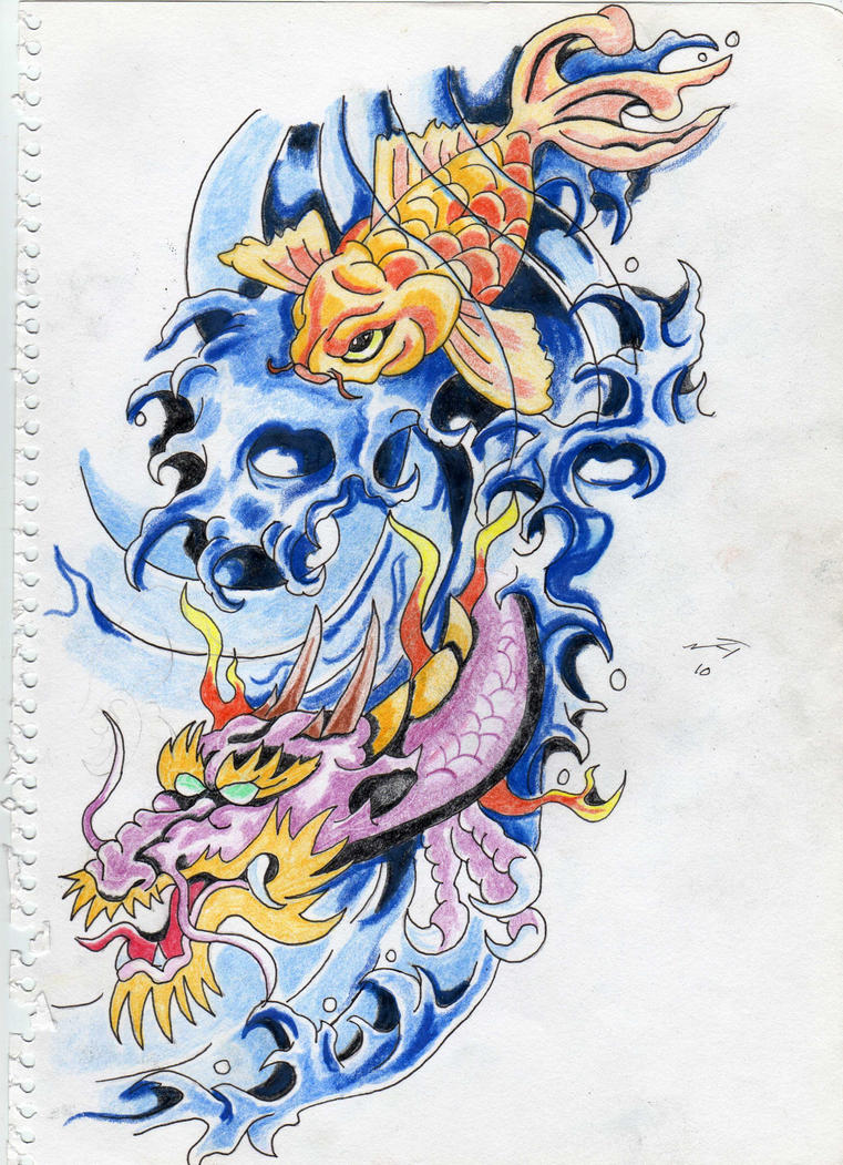 hip tattoo dragon