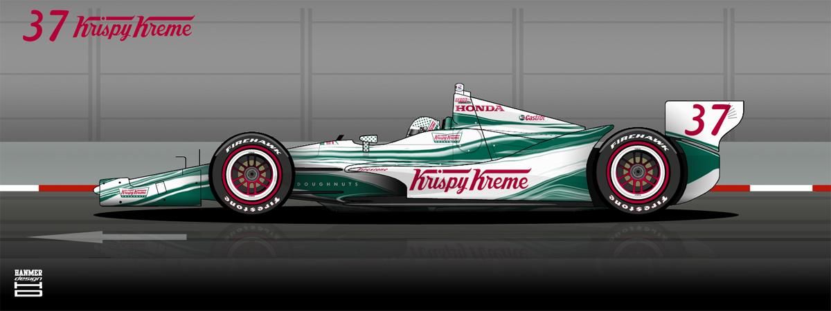 Krispy Kreme Race Car