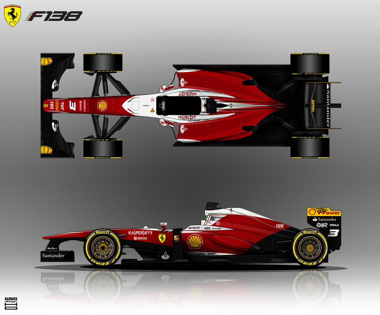 Ferrari F138 by hanmer