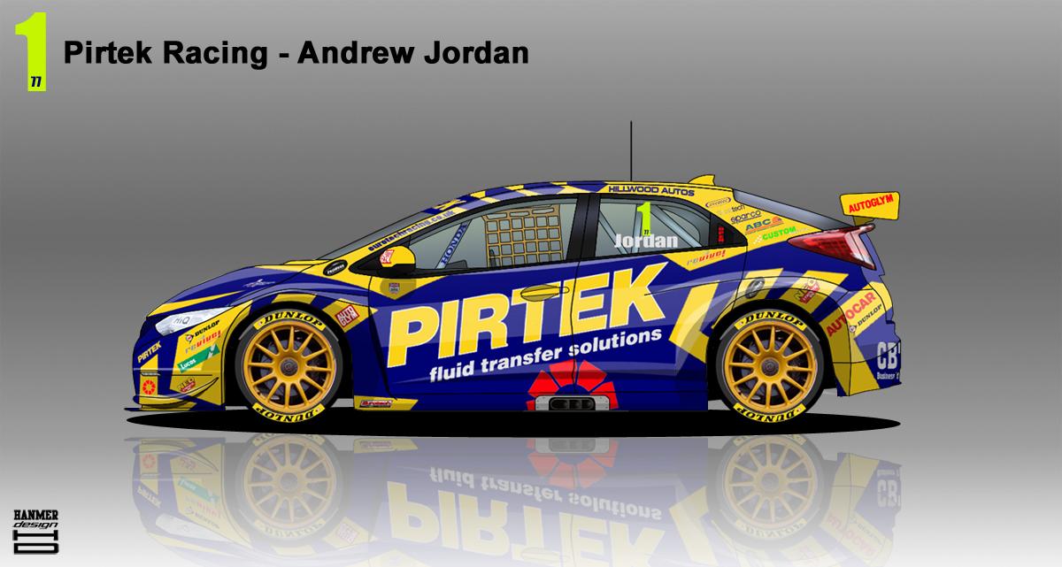 V8 Supercars Logo Pirtek Racing Honda Ci...
