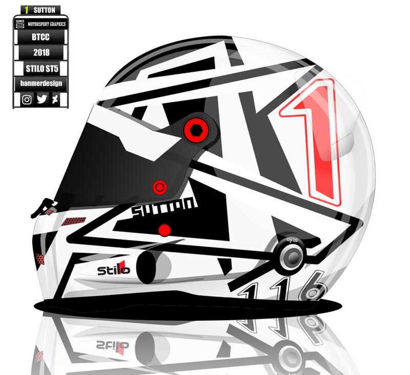 Ashley Sutton BTCC Helmet by hanmer
