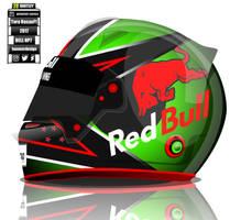 Brendon Hartley Toro Rosso F1 helmet concep