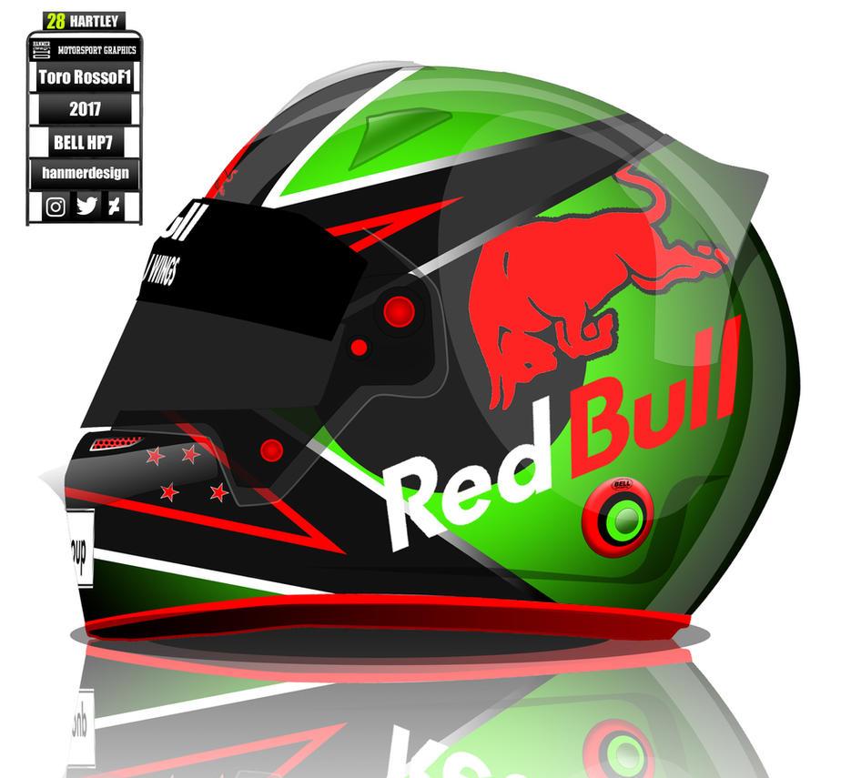 Brendon Hartley Toro Rosso F1 helmet concep by hanmer