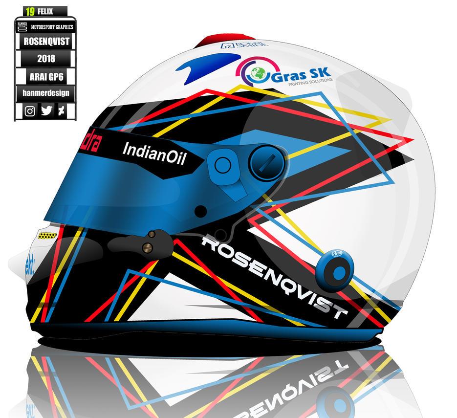 Felix Rosenqvist helmet concept by hanmer