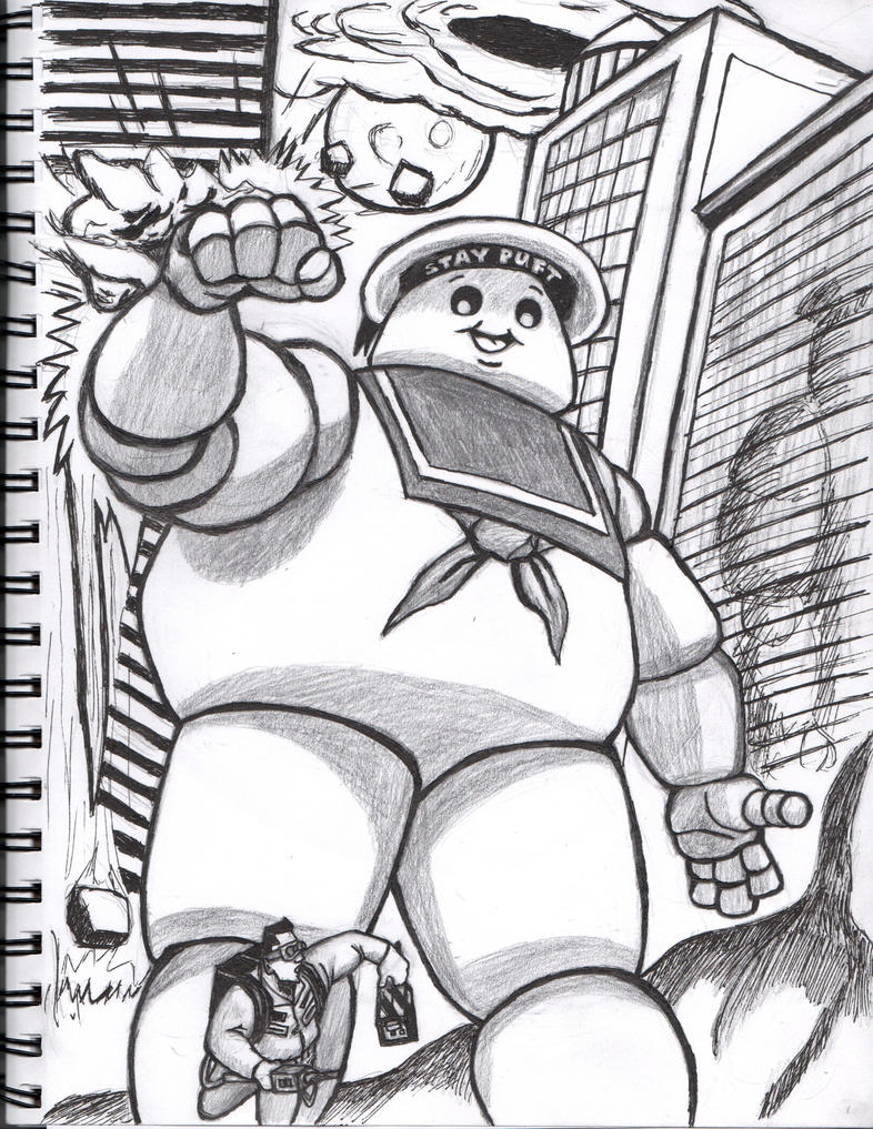 Pin coloring pages marshmallow peeps 0014 8 others free for Stay puft coloring page