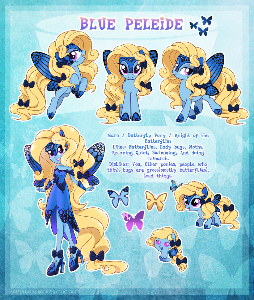 Blue Peleide - ultimate reference guide by LessaNamidairo