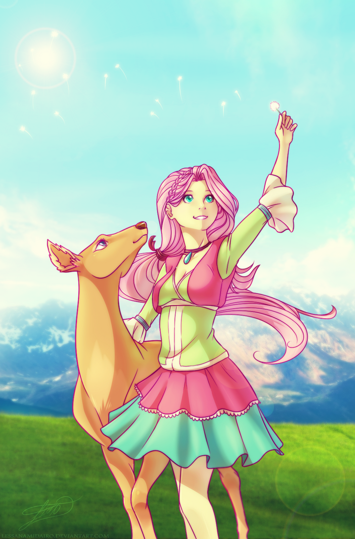 Fluttershy by LessaNamidairo