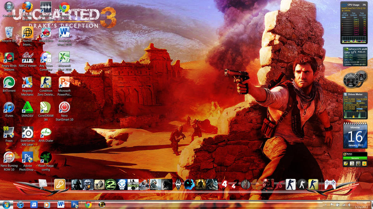 My Laptop Desktop Jan 16 2012 By Sant1VAn On DeviantArt