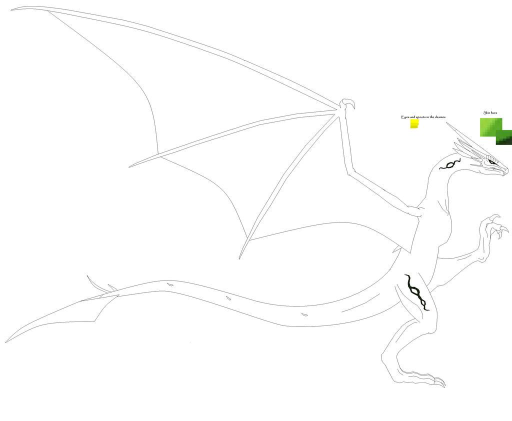 Line Art Dragon : Big lineart dragon by kardowin on deviantart