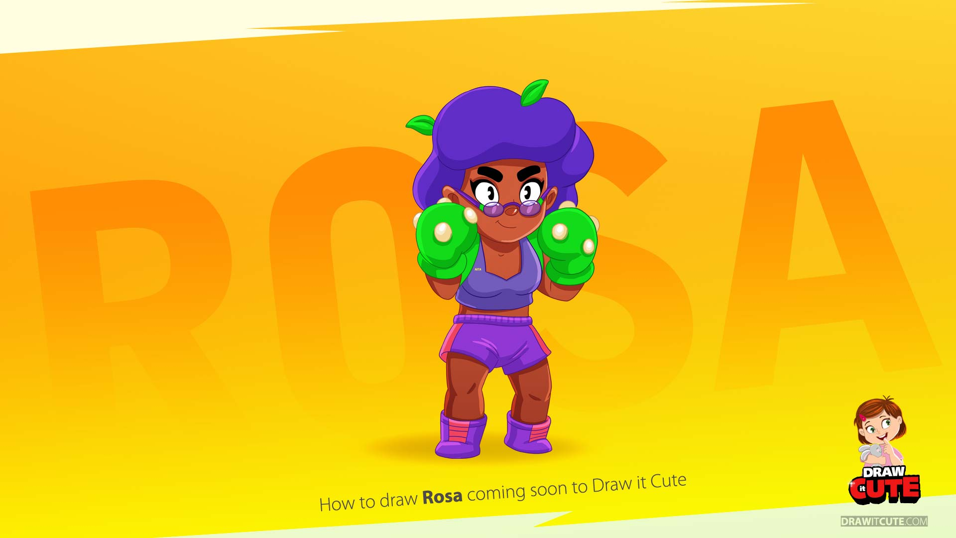 How To Draw Rosa Super Easy Brawl Stars By Drawitcute On Deviantart