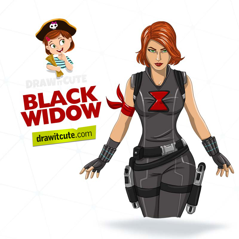 How To Draw Black Widow Step By Step Guide By Drawitcute