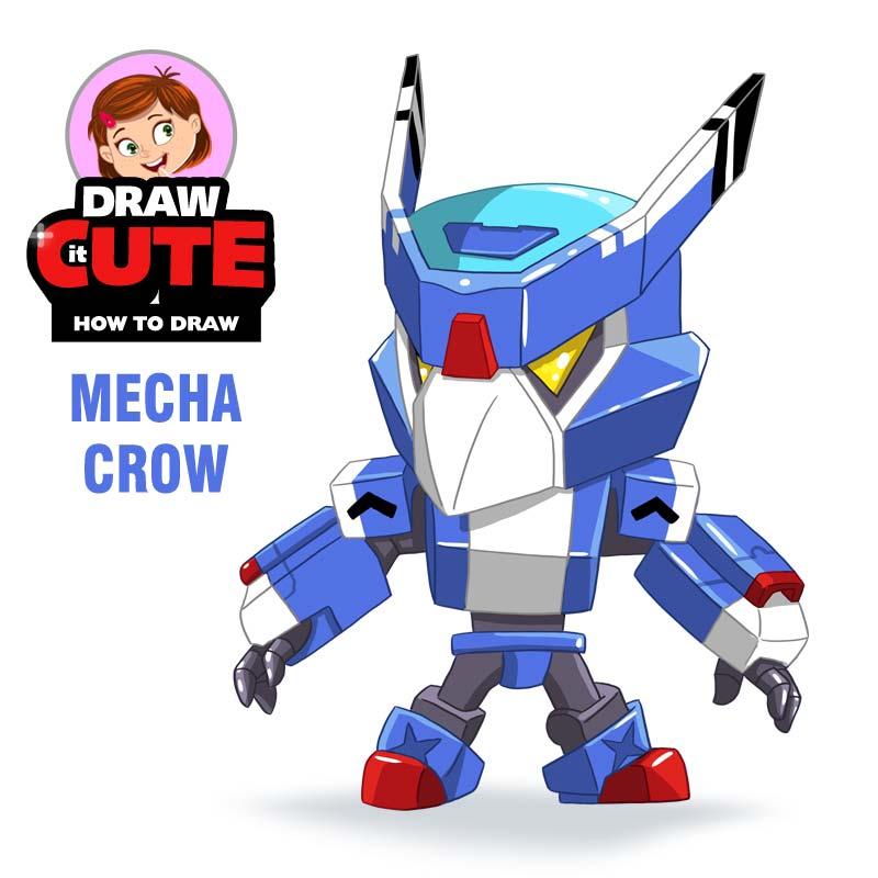 How to draw Mecha Crow   Brawl Stars super easy by ...