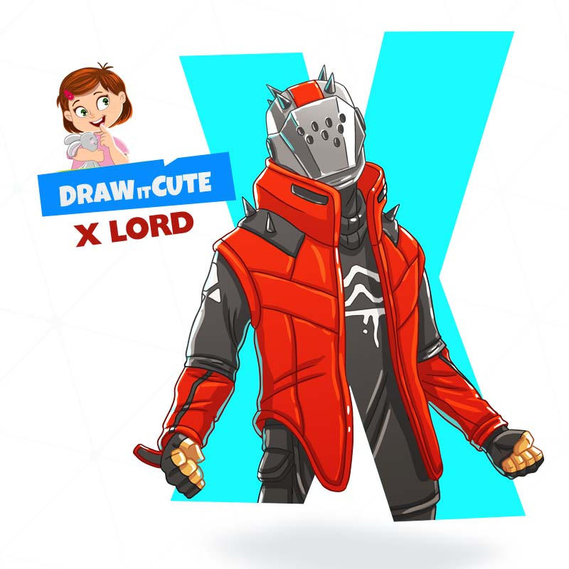 How To Draw X Lord Fortnite Season 10 By Drawitcute On