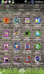 Brick Wall App Drawer