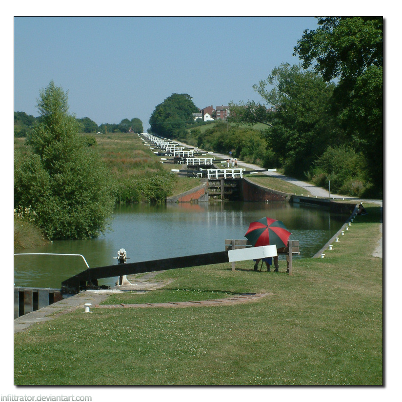 Caen Hill Locks by infiltrator