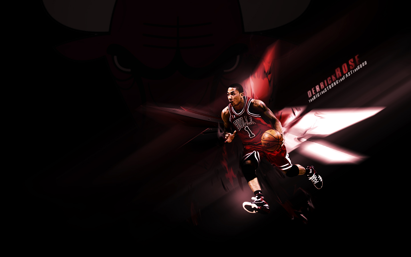 Derrick Rose Bulls Wallpaper By DoubleG33