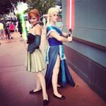 Jedi Anna and Elsa