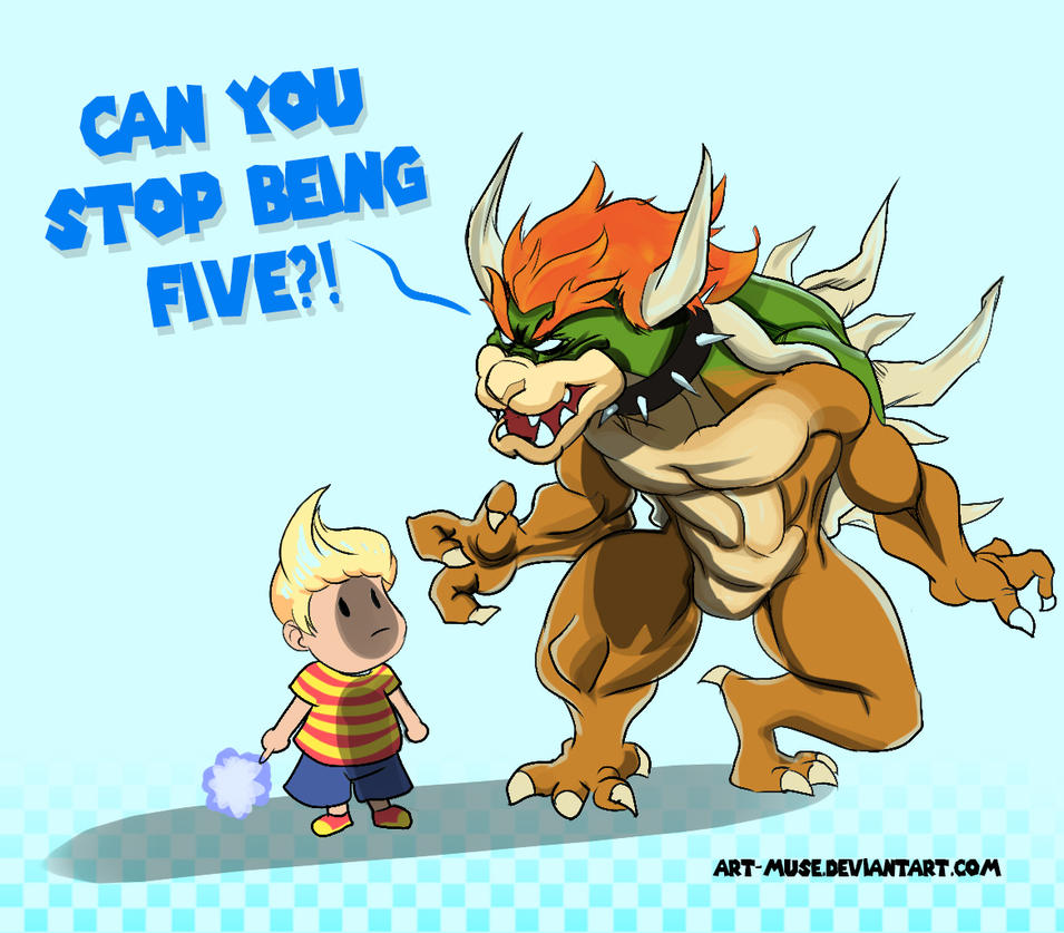 Bowser and Lucas by Art-Muse