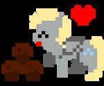 Derpy x Muffins Pixel Art