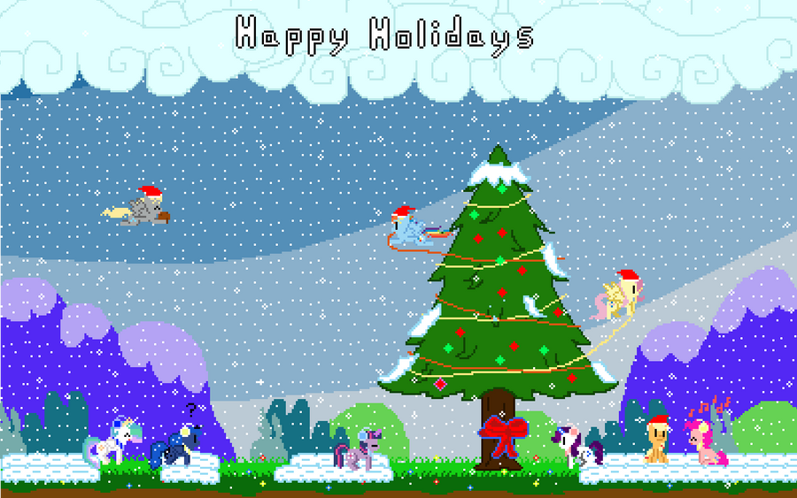 Happy Holiday's from Retro Pony Pixels by Zztfox