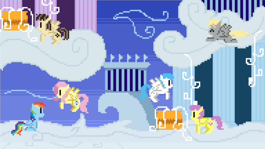 Cloudsdale Pixel Wallpaper by Zztfox