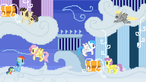 Cloudsdale Pixel Wallpaper
