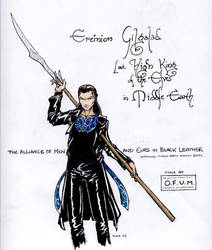 Gil-galad in Black Leather by PPCAgents