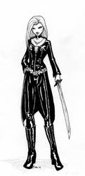 Celebrian in Black Leather by PPCAgents