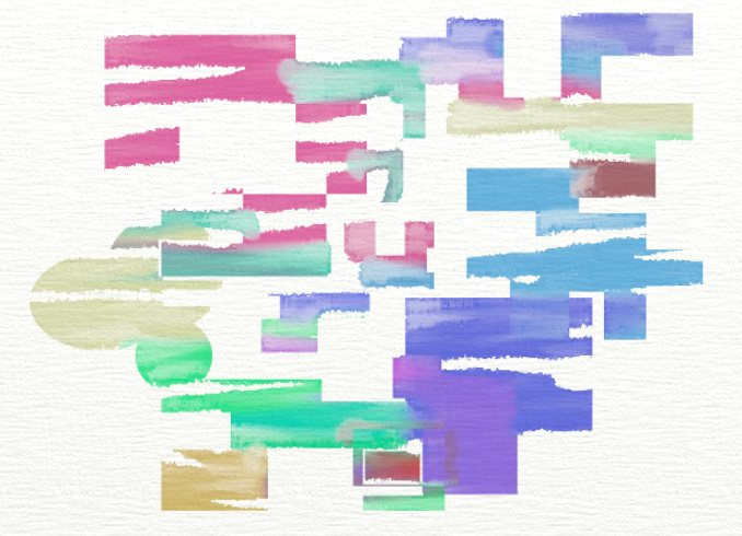 Abstract Watercolor Small Canvas by daeda99