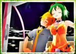 :MMD: Night On The Ferris Wheel [Len x Gumi]