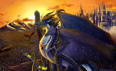 Wings of Fire - King and Queen by Biohazardia