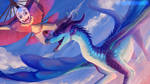 [Avatar x Wings of Fire] - Aang and Blue