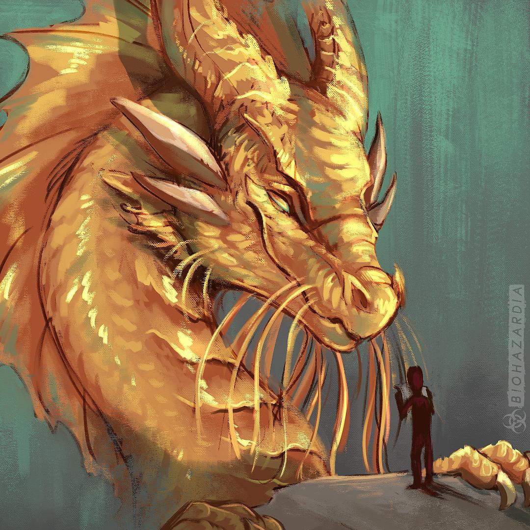 5e gold dragon art