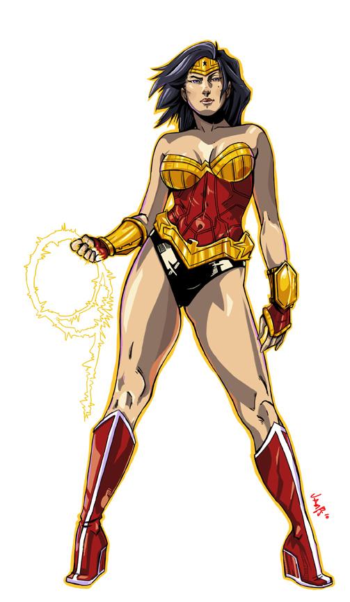 Wonder Woman Pin-up by RyanJampole