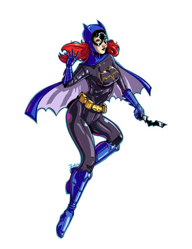 Bat Girl Pin-up by RyanJampole